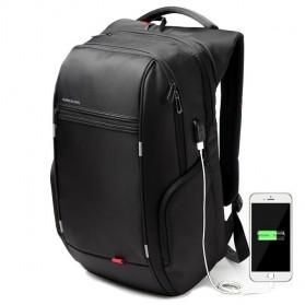 Kingsons Tas Ransel Laptop dengan USB Charger - Black