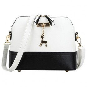 Tas Selempang Wanita Model Deer - Black White