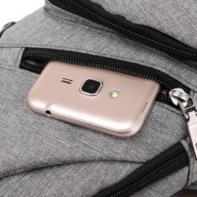 Dxyizu Tas Selempang Crossbody Bag dengan USB Charger Port - dxyz817 - Gray - 4