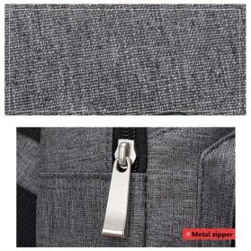 Dxyizu Tas Selempang Crossbody Bag dengan USB Charger Port - dxyz817 - Gray - 11