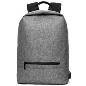 Tas Ransel Laptop Kampus dengan USB Charger Port - Gray