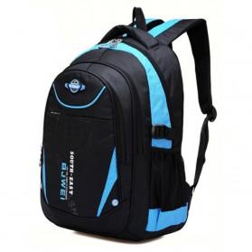 BJWEI Tas Ransel Sekolah Splashproof - Sky Blue