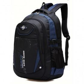 BJWEI Tas Ransel Sekolah Splashproof - Dark Blue