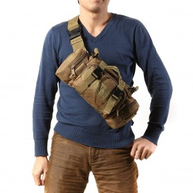 IMOK Tas Selempang Pria Army Sling Bag 6L - BL015 - Cream - 5