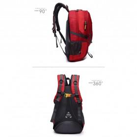 Tas Ransel Gunung Hiking Waterproof 40L - FHJ3809 - Black - 7