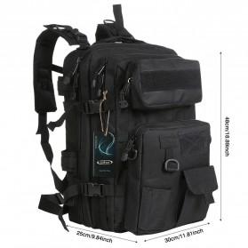 KENDOME Tas Ransel Army Tactical Pria 40L - 068 - Black - 2