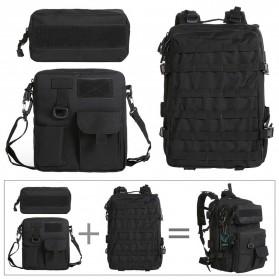 KENDOME Tas Ransel Army Tactical Pria 40L - 068 - Black - 4