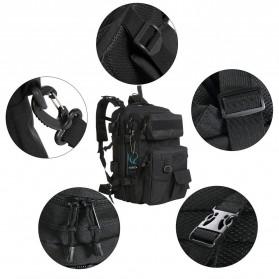 KENDOME Tas Ransel Army Tactical Pria 40L - 068 - Black - 5