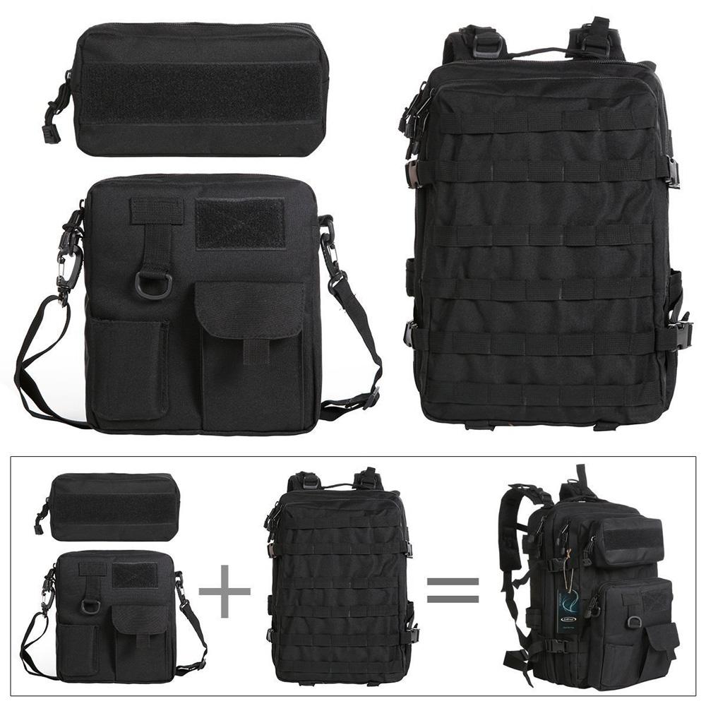 Tas Ransel Army Tactical Pria 40l 068 Black Pinggang 4