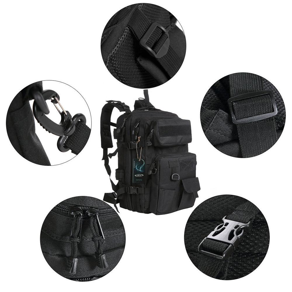 Tas Ransel Army Tactical Pria 40l 068 Black Pinggang 5