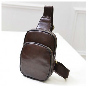 Tas Selempang Crossbody Bag Kasual Bahan PU Leather - TSJ 390 - Brown