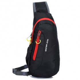 Weikani Tas Selempang Crossbody Bag Sport Waterproof Keep Walking - T1333 - Black