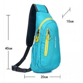 Weikani Tas Selempang Crossbody Bag Sport Waterproof Keep Walking - T1333 - Blue - 8