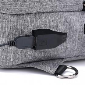 Crossbody Tas Selempang dengan USB Charger Port - Gray - 10