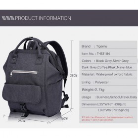 TIGERNU Tas Ransel Laptop 15 Inch - T-B3184 - Gray - 7