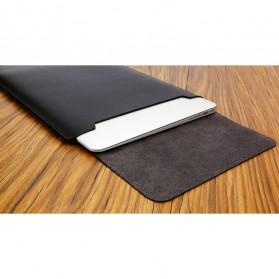 LISEN Sleeve Case Kulit Laptop Ultrabook 15.6 Inch - Z018 - Black - 4
