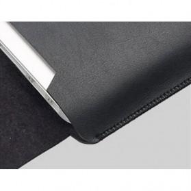 LISEN Sleeve Case Kulit Laptop Ultrabook 15.6 Inch - Z018 - Black - 5