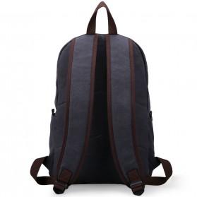 MUZEE Tas Ransel Backpack Casual dengan USB Port - ME-0710 - Black Blue - 3