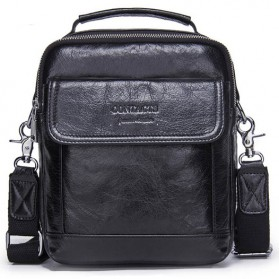 Contacts Tas Selempang Pria Vintage Messenger Bag - MB082 - Black - 1