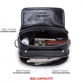 Contacts Tas Selempang Pria Vintage Messenger Bag - MB082 - Black - 3
