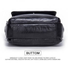 Contacts Tas Selempang Pria Vintage Messenger Bag - MB082 - Black - 9