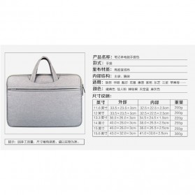 Kazerwa Tas Jinjing Laptop Elegan 15 Inch - XB-AFC6208 - Black - 5
