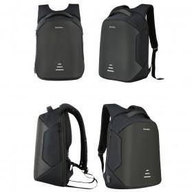 BAIBU Urban Tas Ransel Laptop dengan USB Charger - ZL1913-39 - Black - 3
