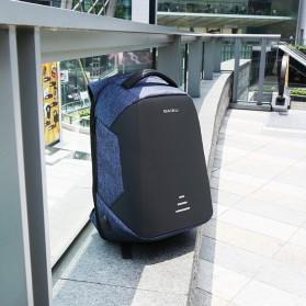BAIBU Urban Tas Ransel Laptop dengan USB Charger - ZL1913-39 - Black - 4