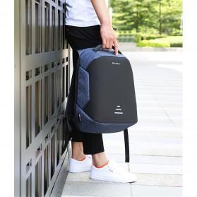 BAIBU Urban Tas Ransel Laptop dengan USB Charger - ZL1913-39 - Black - 6