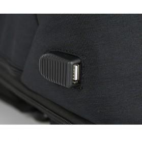 BAIBU Urban Tas Ransel Laptop dengan USB Charger - ZL1913-39 - Black - 7