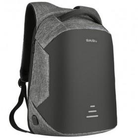 BAIBU Urban Tas Ransel Laptop dengan USB Charger - ZL1913-39 - Gray