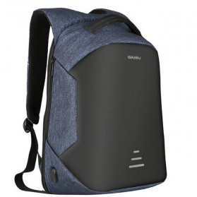 BAIBU Urban Tas Ransel Laptop dengan USB Charger - ZL1913-39 - Blue