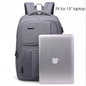 Aoking Tas Ransel Laptop dengan USB Charger - FN77177 - Gray - 2