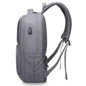 Aoking Tas Ransel Laptop dengan USB Charger - FN77177 - Gray - 8