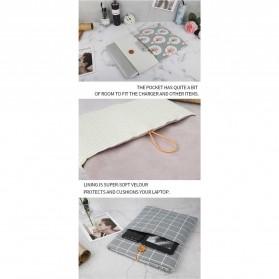 Linen Sleeve MacBook Air Pro 11.6 Inch - Blue - 7