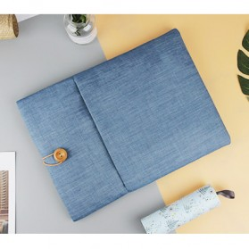 Linen Sleeve MacBook Air Pro 15.4 Inch - Blue