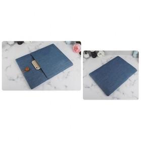 Linen Sleeve MacBook Air Pro 15.4 Inch - Blue - 2