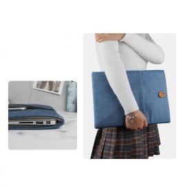 Linen Sleeve MacBook Air Pro 15.4 Inch - Blue - 3