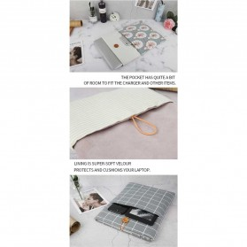 Linen Sleeve MacBook Air Pro 15.4 Inch - Blue - 7