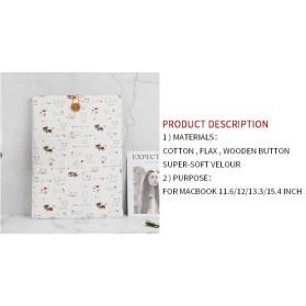 Linen Sleeve MacBook Air Pro 15.4 Inch - Blue - 8