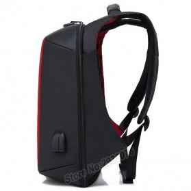 BAIBU Tas Ransel Anti Maling Coded Lock dengan USB Charger Port + AUX Port - ZL1960(false) - Gray - 3