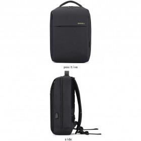 BAIBU Tas Ransel Laptop dengan USB Charger Port - 1927-40 - Black - 2
