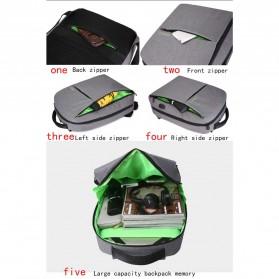 BAIBU Tas Ransel Laptop dengan USB Charger Port - 1927-40 - Black - 4