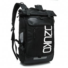 Ozuko Tas Ransel Laptop Roll Top Casual - 8020-39 - Black