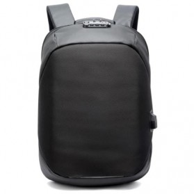 BOPAI Tas Ransel Anti Maling Coded Lock dengan USB Charger Port - Black
