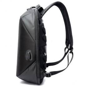 BOPAI Tas Ransel Anti Maling Coded Lock dengan USB Charger Port - Black - 3