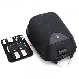 Arctic Hunter Tas Ransel USB Charger Port dengan Digital Storage Board - B00208 - Black