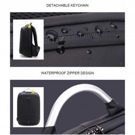 Arctic Hunter Tas Ransel USB Charger Port dengan Digital Storage Board - B00208 - Light Gray - 3
