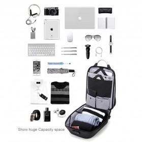 Arctic Hunter Tas Ransel USB Charger Port dengan Digital Storage Board - B00208 - Light Gray - 7