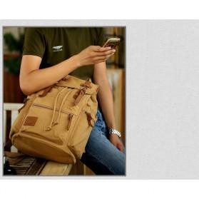 Augur Tas Ransel Canvas School Backpack - Black - 2